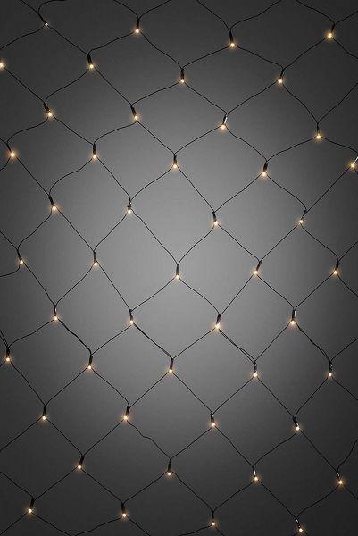 LED Lichternetz, warm-weiß, batteriebetrieben, mit Timer