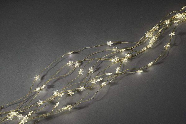Sternenlametta LED, 10 Stränge, warmweiß, für innen