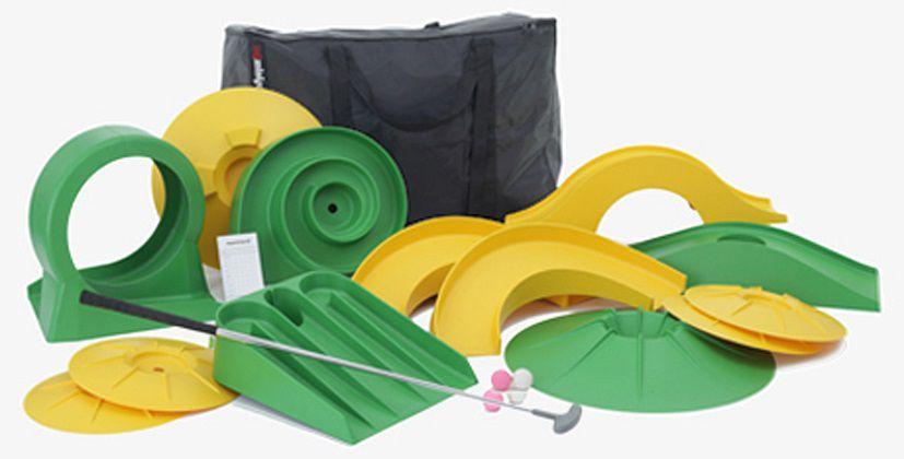 minigolf set basic mit 1 schl ger und 13 hindernissen myminigolf markenshop sport. Black Bedroom Furniture Sets. Home Design Ideas