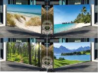 Seitenmarkise mit Fotodruck 160x300 cm, Sichtschutz