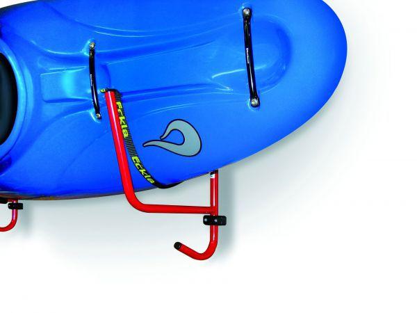 Kajak-Wandhalter schwenkbar mit Auflagegurt u. Befestigungsset
