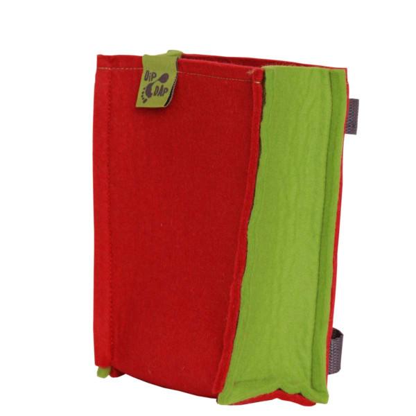 DipDap Lenkertasche für Laufrad, Filz, rot/grün