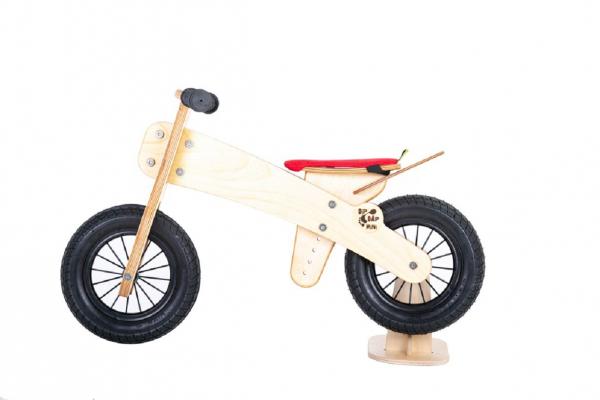 DipDap Mini Laufrad rot, Holz, 10 Zoll Räder