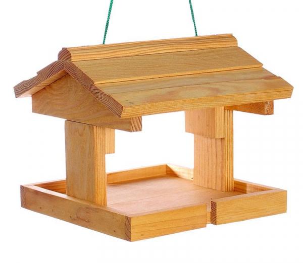 "Vogelhäuschen ""Alpen I"", zum Aufhängen, Holz, Futterhaus, Vogelfutterhaus"
