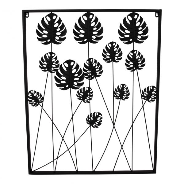 Wanddeko Metall, Blätter, Dekoration Wand, Metalldekoration