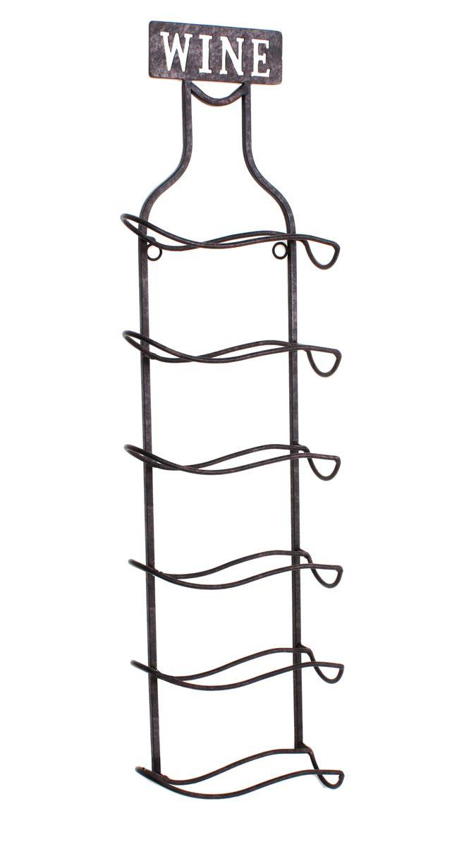weinregal wandmontage metall matt schwarz f r 6 flaschen ebay. Black Bedroom Furniture Sets. Home Design Ideas