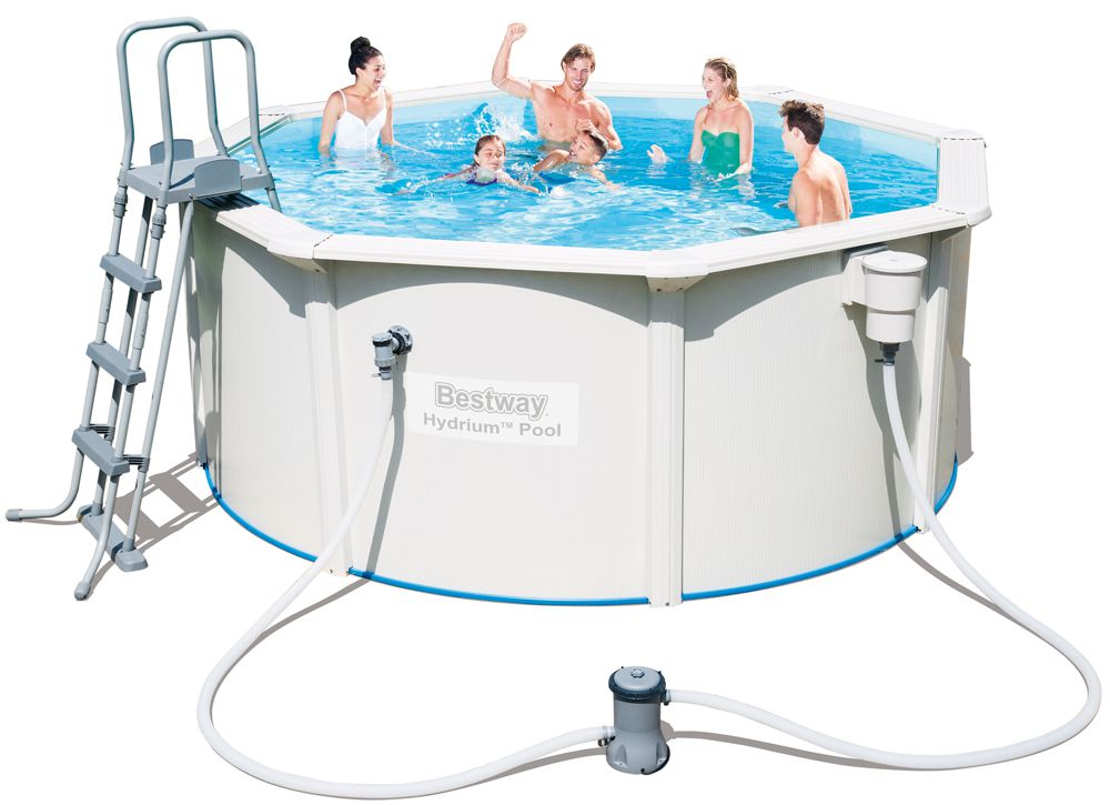 Bestway 56563 hydrium stahlwandpool set 300 x 120 cm ebay for Pool 300 x 120
