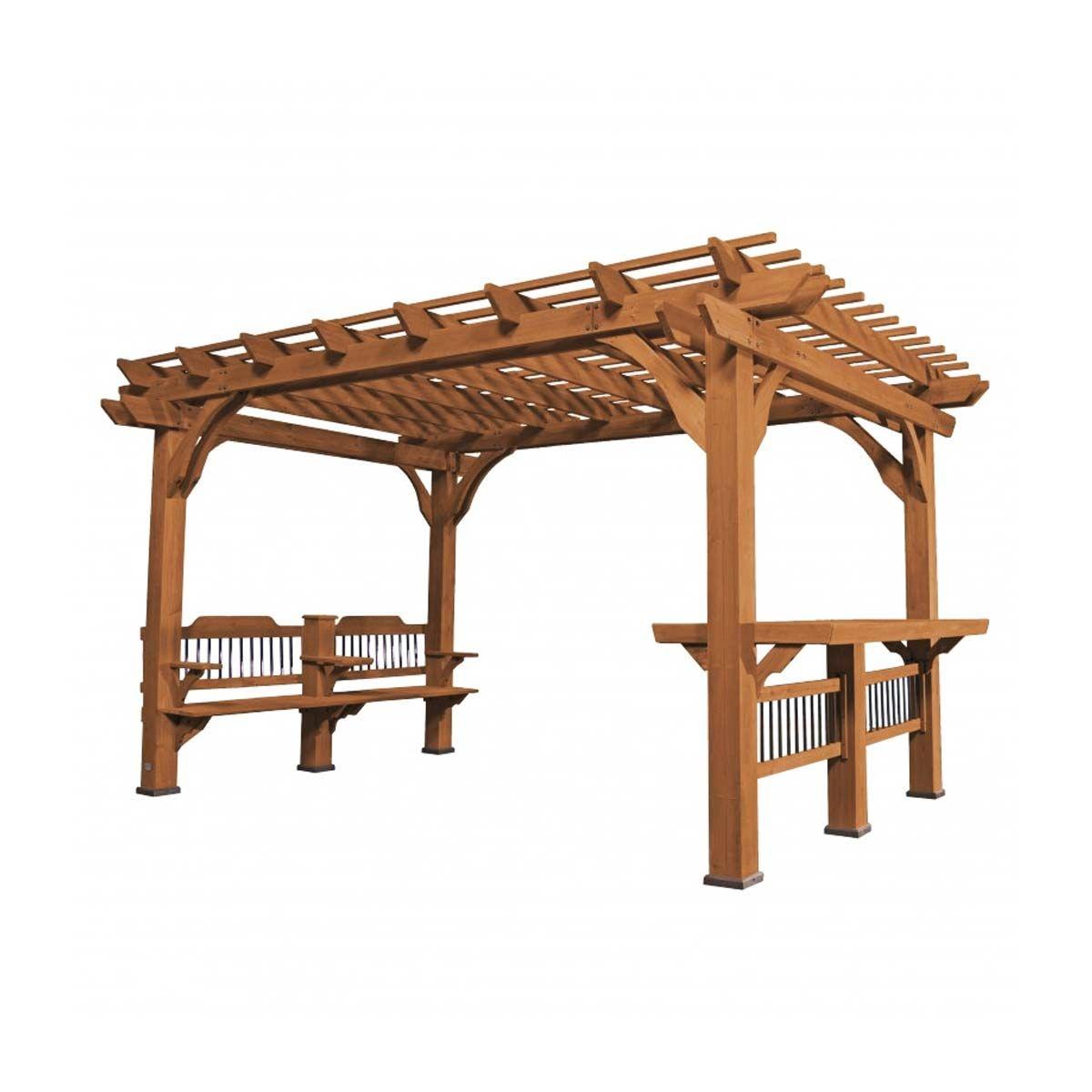 bella vista pergola mit tisch und bank holz terrassen berdachung holzunterstand ebay. Black Bedroom Furniture Sets. Home Design Ideas