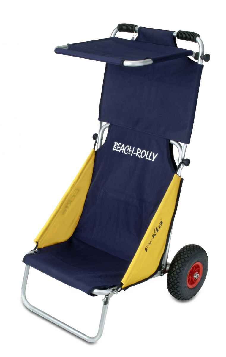 "Beach rolly alternative  Eckla 55520 BEACH-ROLLY ""blau/gelb"" mit Sonnendach und ..."