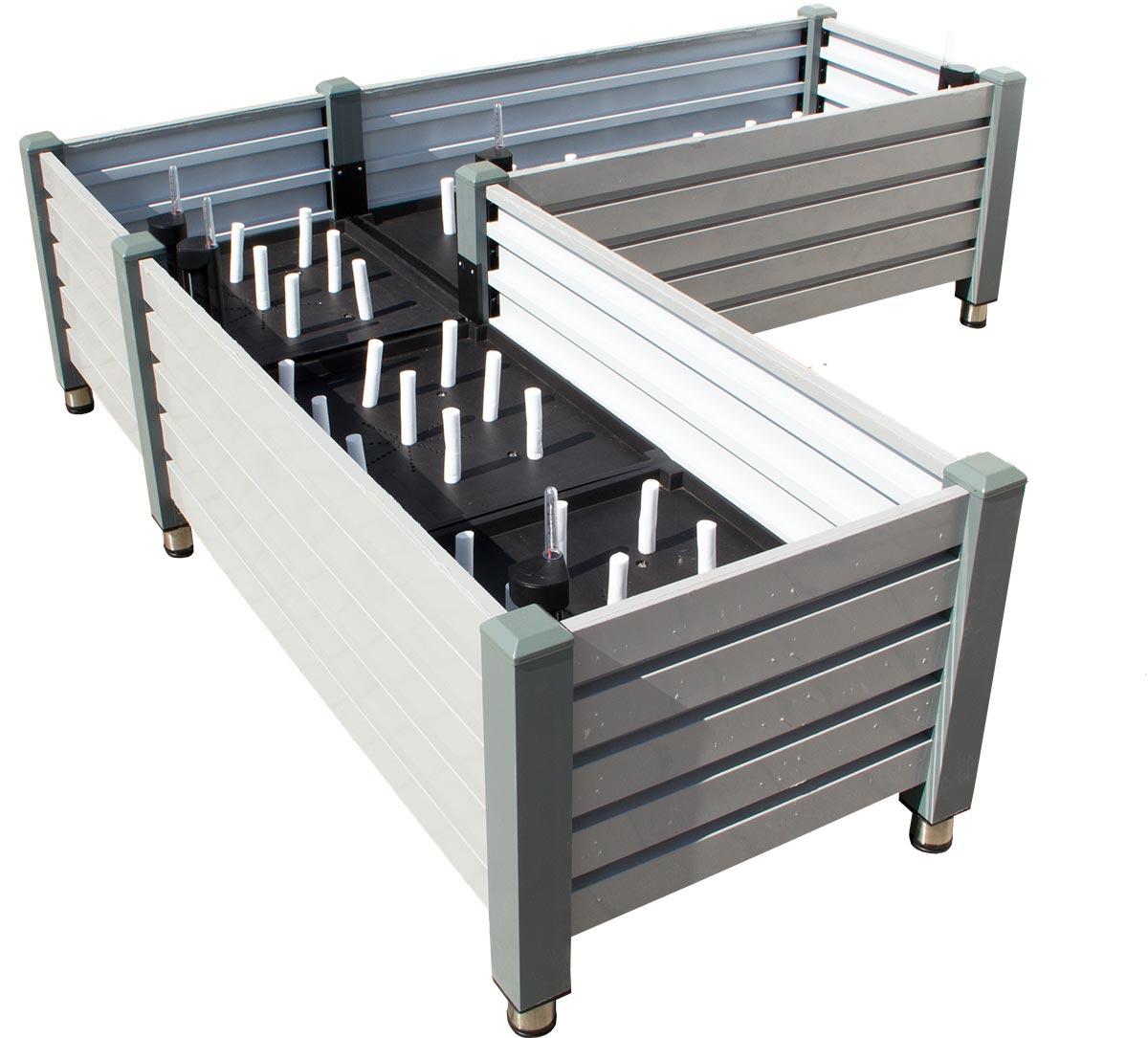 Premium Eck Hochbeet Milano Bewasserungssystem Erweiterbar Metall