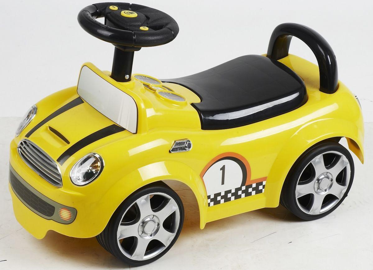 babyrutscher gelb mit musik rutscherauto ebay. Black Bedroom Furniture Sets. Home Design Ideas